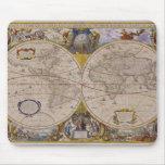 Mapa del mundo antiguo 2 mouse pad