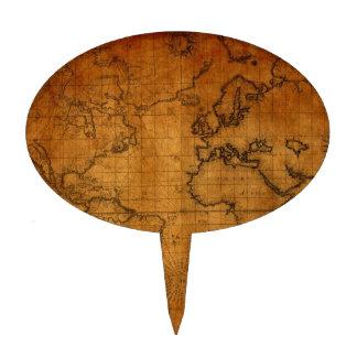 Mapa del mundo antiguo decoraciones para tartas