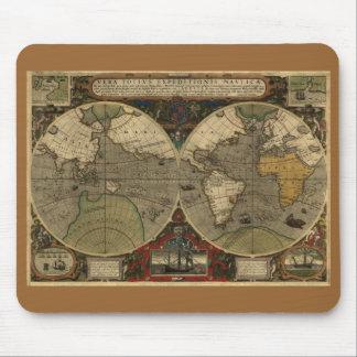 Mapa del mundo antiguo alfombrillas de raton