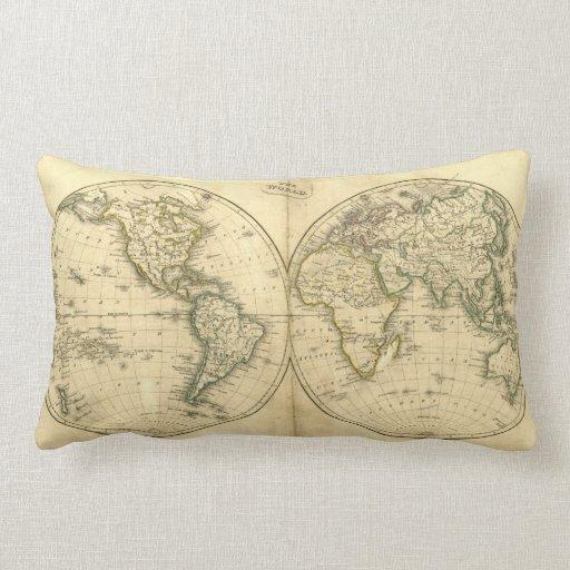 Mapa del mundo antiguo almohadas