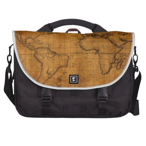 Mapa del mundo antiguo bolsas de portatil