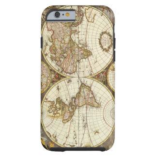 Mapa del mundo antiguo, C. 1680. Por Frederick de Funda Resistente iPhone 6