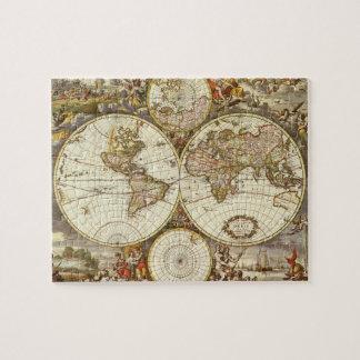 Mapa del mundo antiguo, C. 1680. Por Frederick de Puzzle