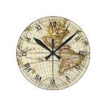 Mapa del mundo antiguo, C. 1680. Por Frederick de Reloj Redondo Mediano