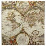 Mapa del mundo antiguo, C. 1680. Por Frederick de  Servilletas De Papel