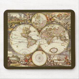 Mapa del mundo antiguo, C. 1680. Por Frederick de  Tapetes De Raton
