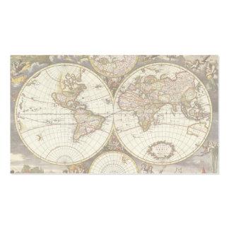Mapa del mundo antiguo, C. 1680. Por Frederick de Tarjetas De Visita