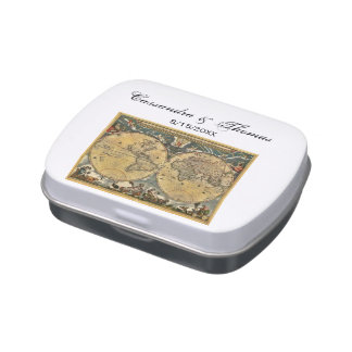 Mapa del mundo antiguo, caramelo de WhiteBG Latas De Caramelos