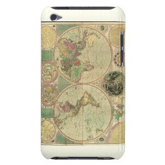 Mapa del mundo antiguo de Carington Bowles circa iPod Touch Case-Mate Carcasas