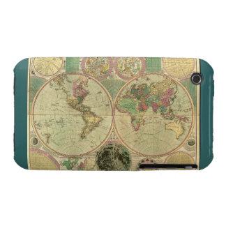Mapa del mundo antiguo de Carington Bowles, circa iPhone 3 Protectores