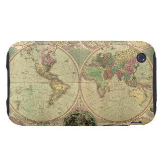 Mapa del mundo antiguo de Carington Bowles, circa iPhone 3 Tough Carcasas