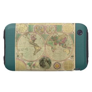 Mapa del mundo antiguo de Carington Bowles, circa iPhone 3 Tough Fundas