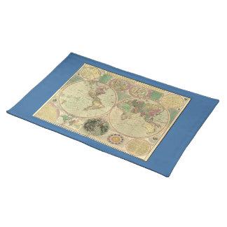 Mapa del mundo antiguo de Carington Bowles, circa Mantel Individual