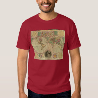 Mapa del mundo antiguo de Carington Bowles, circa Playera