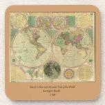 Mapa del mundo antiguo de Carington Bowles, circa Posavasos De Bebidas