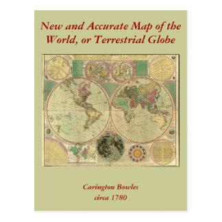 Mapa del mundo antiguo de Carington Bowles, circa Postal