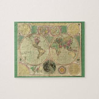 Mapa del mundo antiguo de Carington Bowles, circa Rompecabezas Con Fotos