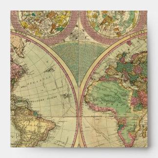 Mapa del mundo antiguo de Carington Bowles, circa  Sobre