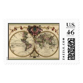 Mapa del mundo antiguo de Guillaume de L Isle 172