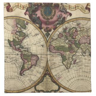 Mapa del mundo antiguo de Guillaume de L'Isle, 172 Servilletas