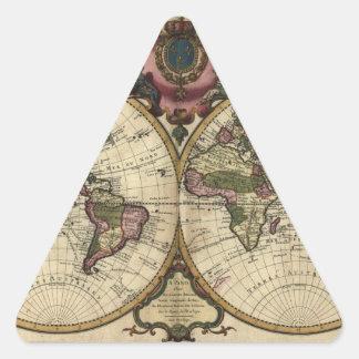 Mapa del mundo antiguo de Guillaume de L'Isle, Pegatina Triangular