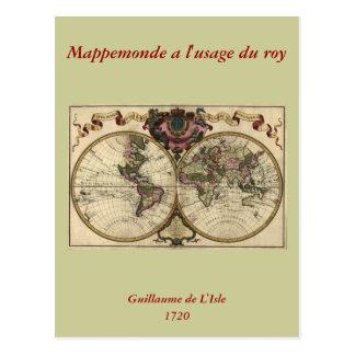 Mapa del mundo antiguo de Guillaume de L'Isle, Postal