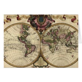 Mapa del mundo antiguo de Guillaume de L'Isle, Tarjeta De Felicitación