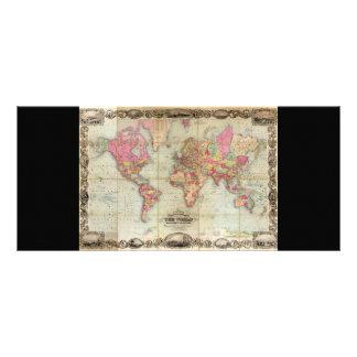 Mapa del mundo antiguo de Juan Colton, circa 1854 Plantillas De Lonas