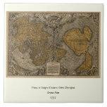 Mapa del mundo antiguo de la obra clásica 1531 por azulejo ceramica