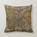Mapa del mundo antiguo de la obra clásica 1531 por cojin