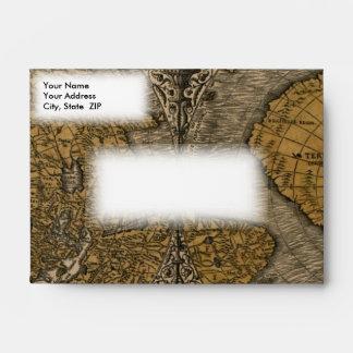 Mapa del mundo antiguo de la obra clásica 1531 por