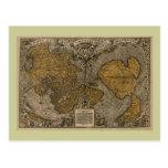 Mapa del mundo antiguo de la obra clásica 1531 por postal
