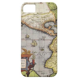 Mapa del mundo antiguo de las Américas, 1570 iPhone 5 Carcasas