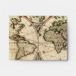 Mapa del mundo antiguo de Nicolao Visscher, circa
