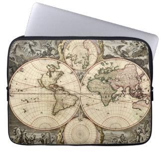 Mapa del mundo antiguo de Nicolao Visscher, circa  Fundas Computadoras