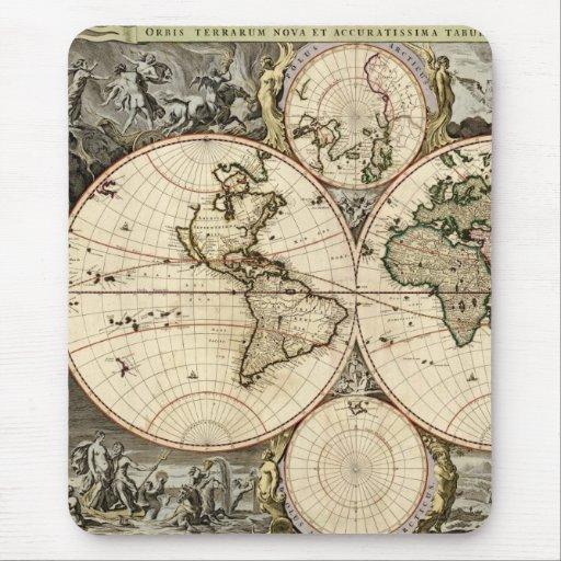 Mapa del mundo antiguo de Nicolao Visscher, circa Mousepads