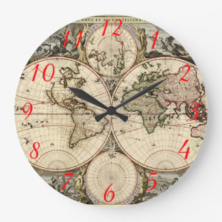 Mapa del mundo antiguo de Nicolao Visscher, circa  Reloj
