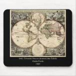 Mapa del mundo antiguo de Nicolao Visscher, circa  Alfombrillas De Ratones