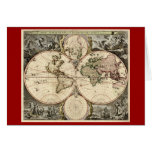 Mapa del mundo antiguo de Nicolao Visscher, circa  Tarjeton