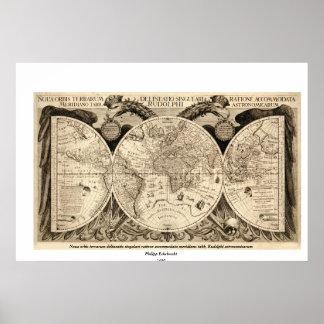 Mapa del mundo antiguo de Philipp Eckebrecht - 163 Poster