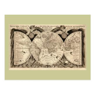 Mapa del mundo antiguo de Philipp Eckebrecht - Postal