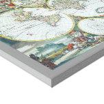 Mapa del mundo antiguo del siglo XVII, Frederick Impresiones En Lona
