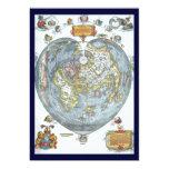 Mapa del mundo antiguo en forma de corazón Peter Comunicados
