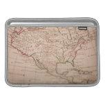 Mapa del mundo antiguo fundas para macbook air