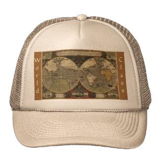 Mapa del mundo antiguo gorra