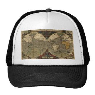Mapa del mundo antiguo gorras de camionero