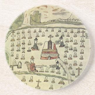 Mapa del mundo antiguo; Imperio azteca de Posavasos Diseño