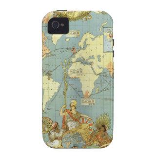 Mapa del mundo antiguo, Imperio británico, 1886 Case-Mate iPhone 4 Fundas