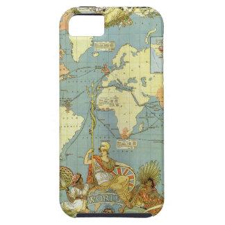 Mapa del mundo antiguo, Imperio británico, 1886 iPhone 5 Fundas