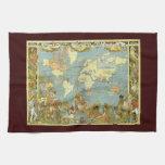 Mapa del mundo antiguo, Imperio británico, 1886 Toallas